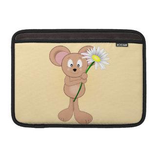 Bolsa De MacBook Rato com flor