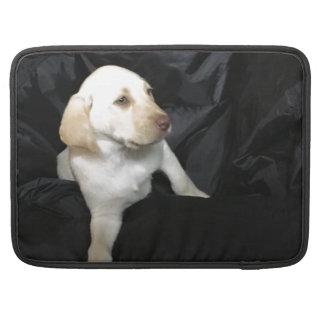 Bolsa MacBook Pro filhote de cachorro amarelo do laboratório,