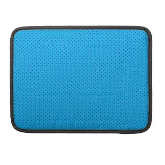 Bolsa MacBook Pro Luva azul do teste padrão da polca