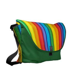 Bolsa mensageiro zero da arte do arco-íris a