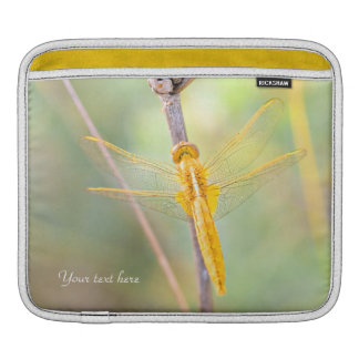 Bolsa Para iPad Amarelo e libélula do ouro