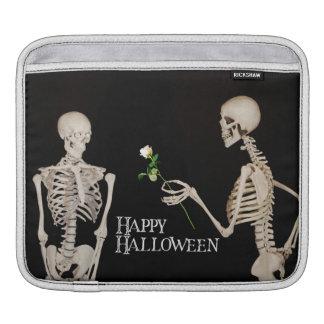 Bolsa Para iPad Esqueletos o Dia das Bruxas feliz romântico