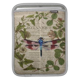 Bolsa Para iPad libélula moderna do vintage das folhas botânicas