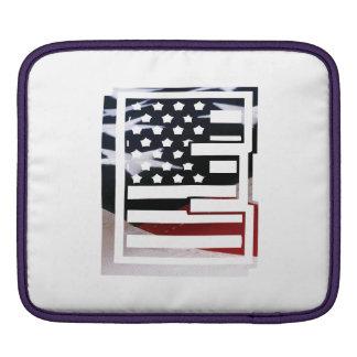 Bolsa Para iPad Teste padrão da bandeira dos EUA da inicial do