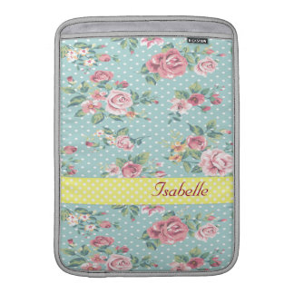 Bolsa Para MacBook Air Rosas românticos alegres adoráveis do vintage