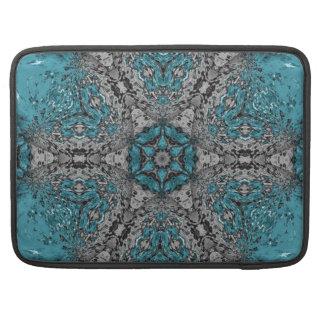 Bolsa Para MacBook Chuva do caleidoscópio de turquesa
