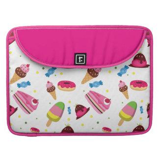 Bolsa Para MacBook Doces bonitos e teste padrão colorido doce