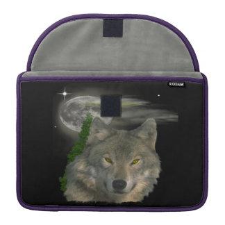 Bolsa Para MacBook Lobo em produtos da noite