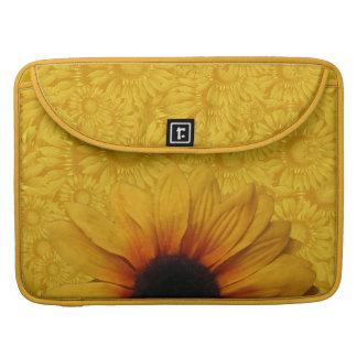 Bolsa Para MacBook Luva amarela bonita de MacBook Pro dos girassóis