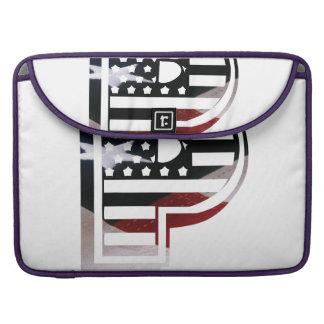 Bolsa Para MacBook Pro Bandeira patriótica dos EUA da inicial do