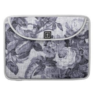 Bolsa Para MacBook Pro Vintage azul Toile floral No.5 do Mulberry