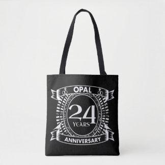 Bolsa Tote 24o opal do aniversário de casamento