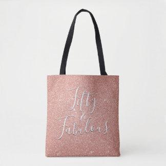 Bolsa Tote 50 e o ouro cor-de-rosa fabuloso coram brilho