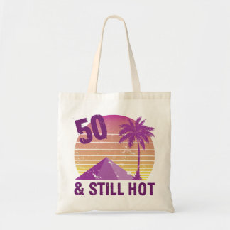 Bolsa Tote 50th aniversário engraçado quente