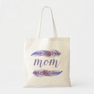 Bolsa Tote A aguarela de Boho empluma-se o dia das mães de  