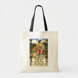 Bolsa Tote A arte da etiqueta do produto do vintage, não ao