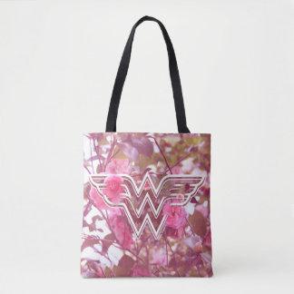 Bolsa Tote A camélia cor-de-rosa da mulher maravilha floresce