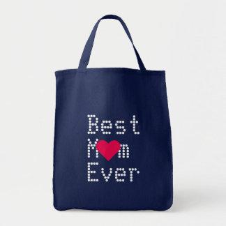 Bolsa Tote A melhor sacola do coração do dia das mães do