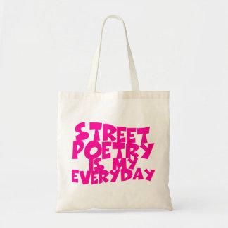 Bolsa Tote A poesia da rua é meu diária