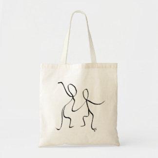 Bolsa Tote A sacola com dois Jive dançarinos