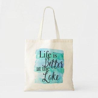 Bolsa Tote A vida é melhor no lago