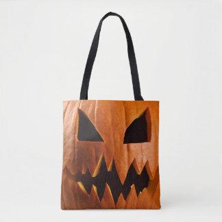 Bolsa Tote Abóbora irritada do Dia das Bruxas