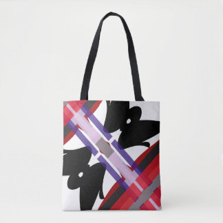 Bolsa Tote Abstrato do Teahouse