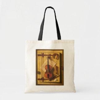 Bolsa Tote Ainda violino e música da vida por Harnett