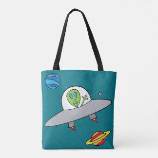 Bolsa Tote Alex a alienígena - toda sobre - imprima a