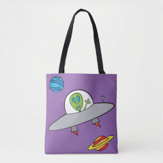 Bolsa Tote Alex a alienígena - toda sobre - imprima o roxo do
