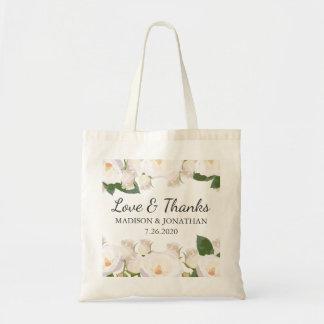 Bolsa Tote Amor exterior floral do casamento & boa vinda do