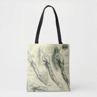 Bolsa Tote Anatomia do braço e do ombro por Leonardo da Vinci