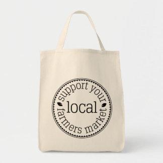 Bolsa Tote Apoie sua sacola local do mantimento do mercado