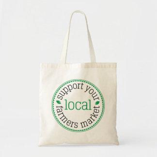 Bolsa Tote Apoie sua sacola local do mercado dos fazendeiros