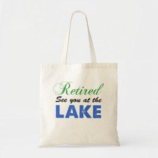 Bolsa Tote Aposentado veja-o na sacola do lago