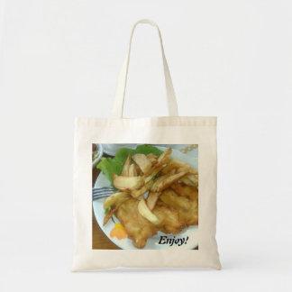 Bolsa Tote Aprecie os peitos de frango Roasted com batatas
