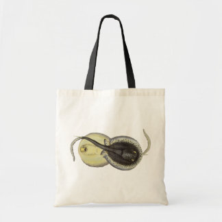 Bolsa Tote Arraias-lixas manchadas vintage, animais marinhos