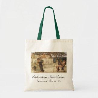 Bolsa Tote Arte, Sappho e Alcaeus do vintage por Alma Tadema