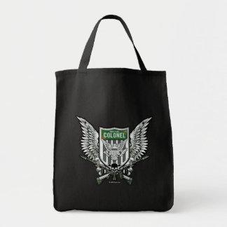 Bolsa Tote Arte voada bandeira do tatuagem da crista do rick