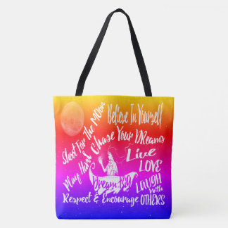 Bolsa Tote As citações inspiradores inspiradas Stars @ o saco