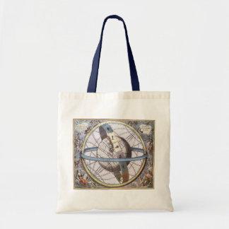 Bolsa Tote Astronomia do vintage, zodíaco celestial do