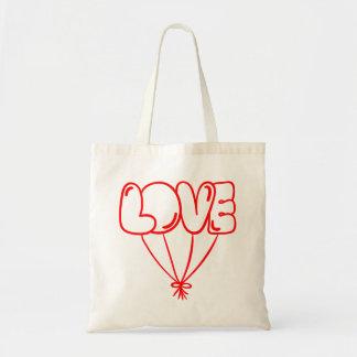 Bolsa Tote Balões vermelhos do amor - casamento, chá de