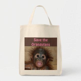 Bolsa Tote Bebês do animal do orangotango