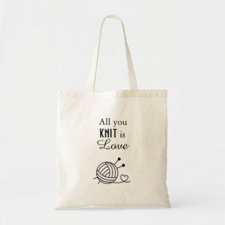 Bolsa Tote Bola do artesanato do fio para confecção de malhas