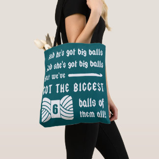 Bolsa Tote Bolas grandes do fio • Artesanatos do Crochet