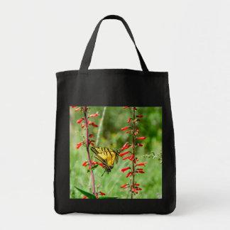 Bolsa Tote Borboleta e Wildflowers de Swallowtail do tigre