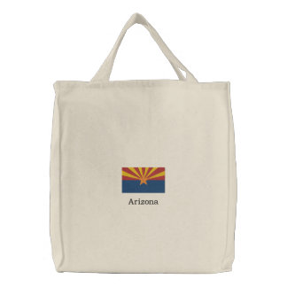 Bolsa Tote Bordada Bandeira do estado da arizona