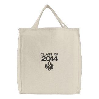 Bolsa Tote Bordada Classe de 2014 & seu saco bordado iniciais
