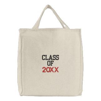 Bolsa Tote Bordada CLASSE de graduação feita sob encomenda do ano