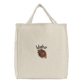 Bolsa Tote Bordada Saco bordado alces de Idaho